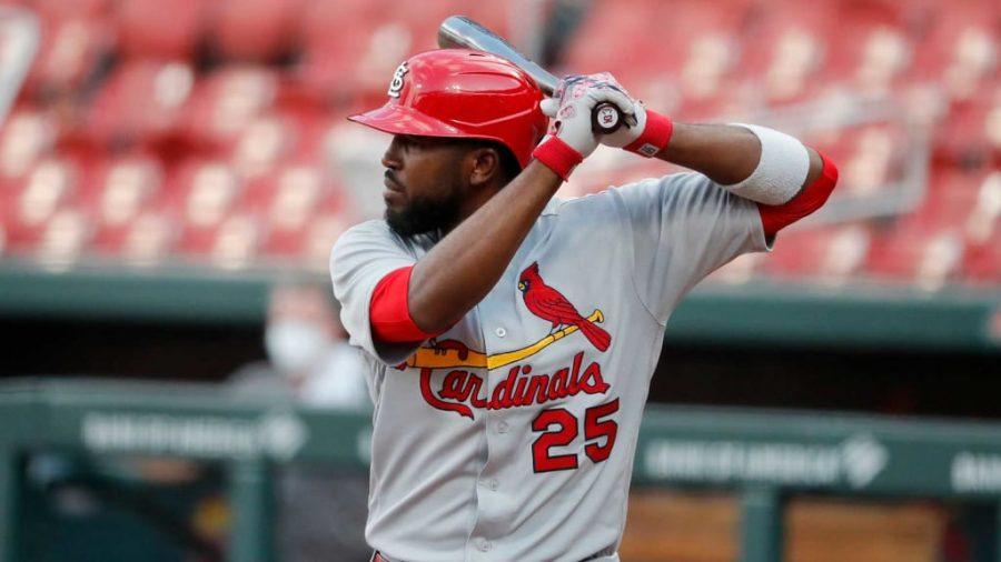 Dexter Fowler bats for St. Louis Cardinals