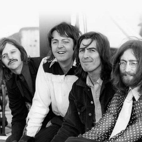 Left to Right: Ringo Starr, Paul McCartney, George Harrison, John Lennon in 1969.